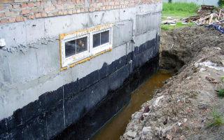 Фундамент при высоком уровне грунтовых вод