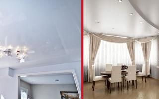 Какие потолки лучше — натяжные или из гипсокартона?
