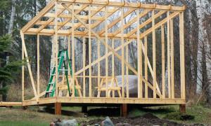 Строим сарай с односкатной крышей: чертеж, инструкция, советы