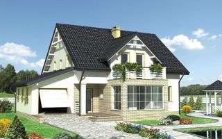 Каркасный дом с мансардой и верандой. От проекта до постройки.