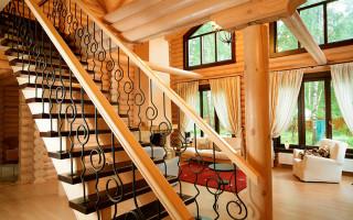 Прямая лестница на 2 этаж: особенности конструкции и монтаж