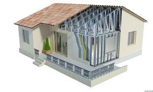 Каркасные дома из металлического профиля