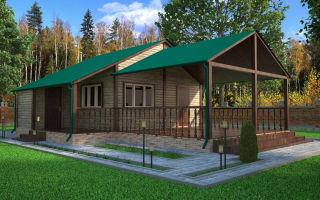 Одноэтажные щитовые дома эконом класса с верандой. Как построить и сэкономить