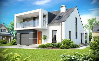Современный каркасный дом в стиле минимализм
