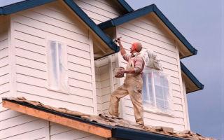 Окраска деревянного дома
