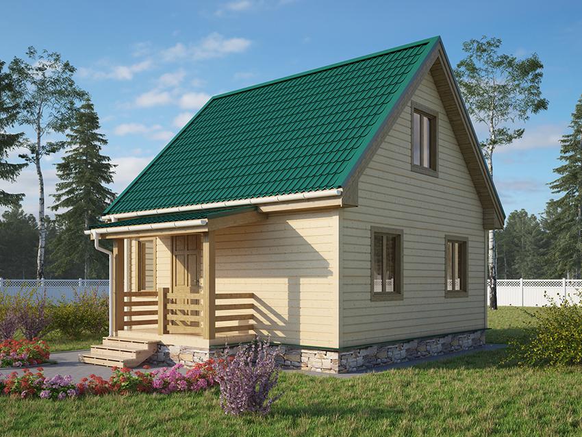Стоимость каркасного дома 6х6