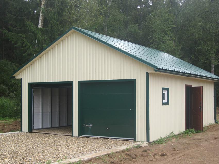 Деревянный каркасный гараж своими руками