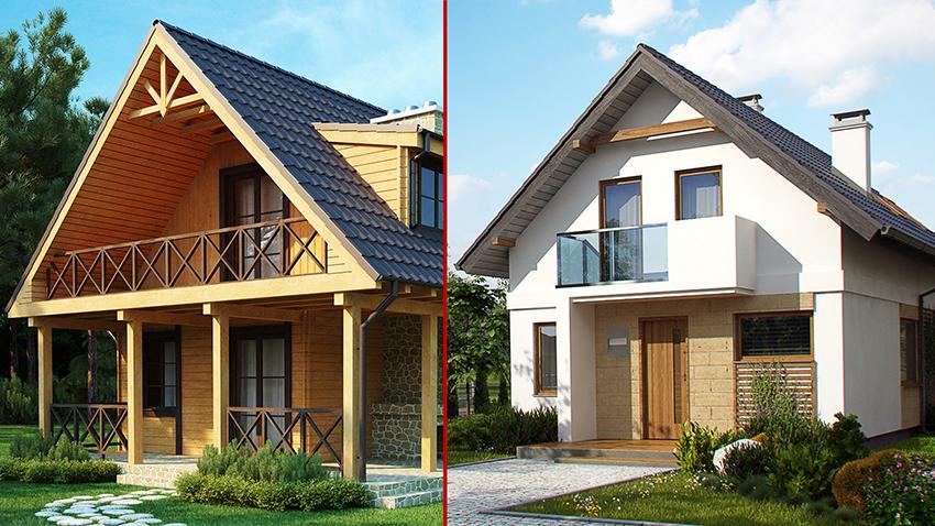 Какой дом лучше: каркасный или из бруса?