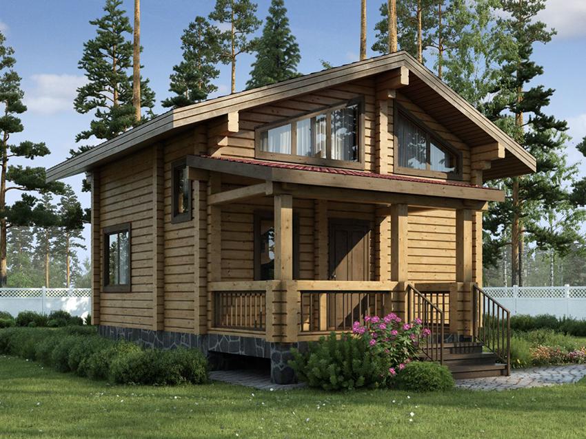 Проекты-деревянных-бань-с-мансардой