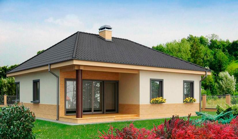 Одноэтажные каркасные дома для постоянного проживания проекты