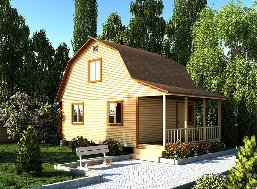 Как построить каркасно щитовой домик