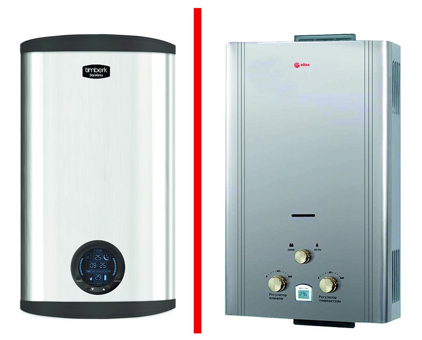 Электрический или газовый нагреватель