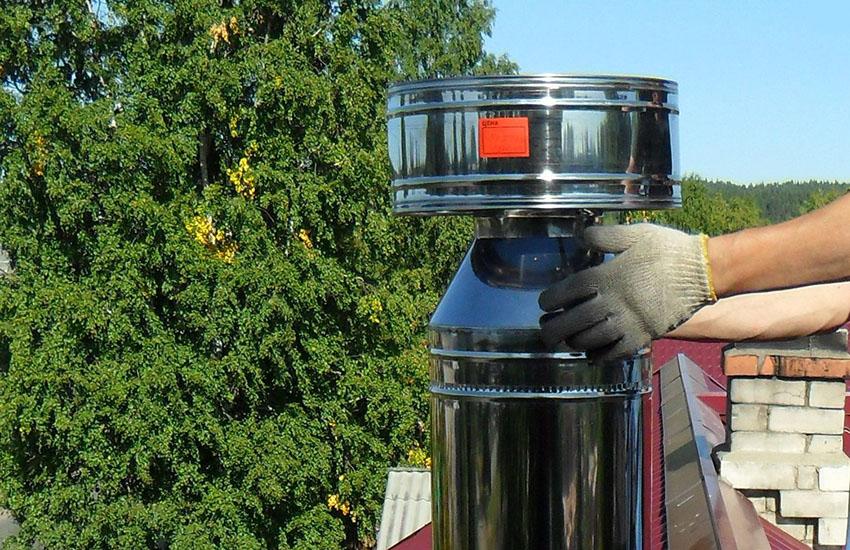 Труба для дымохода своими руками
