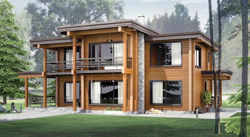 Проекты дачного дома из бруса 6х22