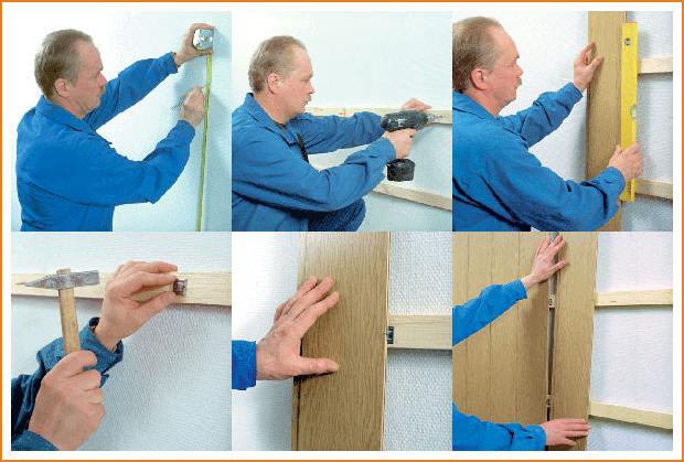 Как произвести правильный монтаж на стены