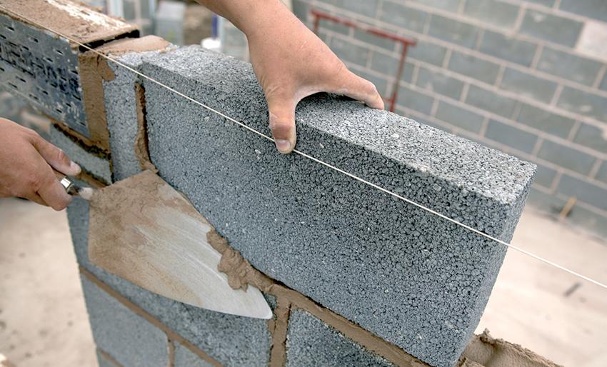 Укладка плитки на керамзитобетонные блоки