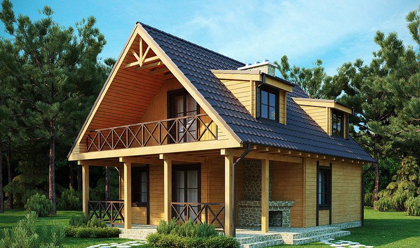 Что такое недорогой дом из бруса?