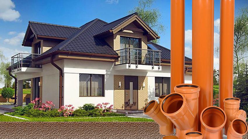 Глубина укладки канализации в частном доме