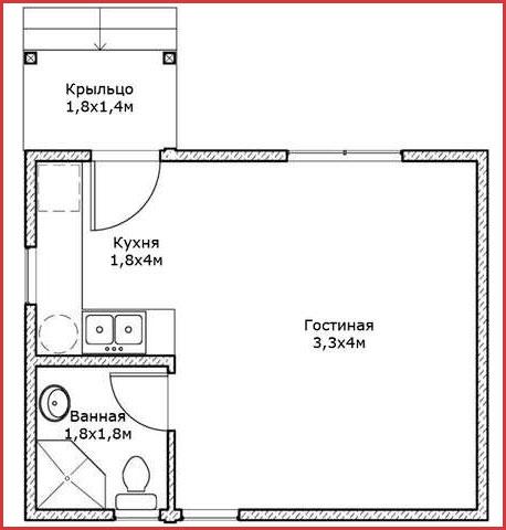 Миниатюрный дачный домик