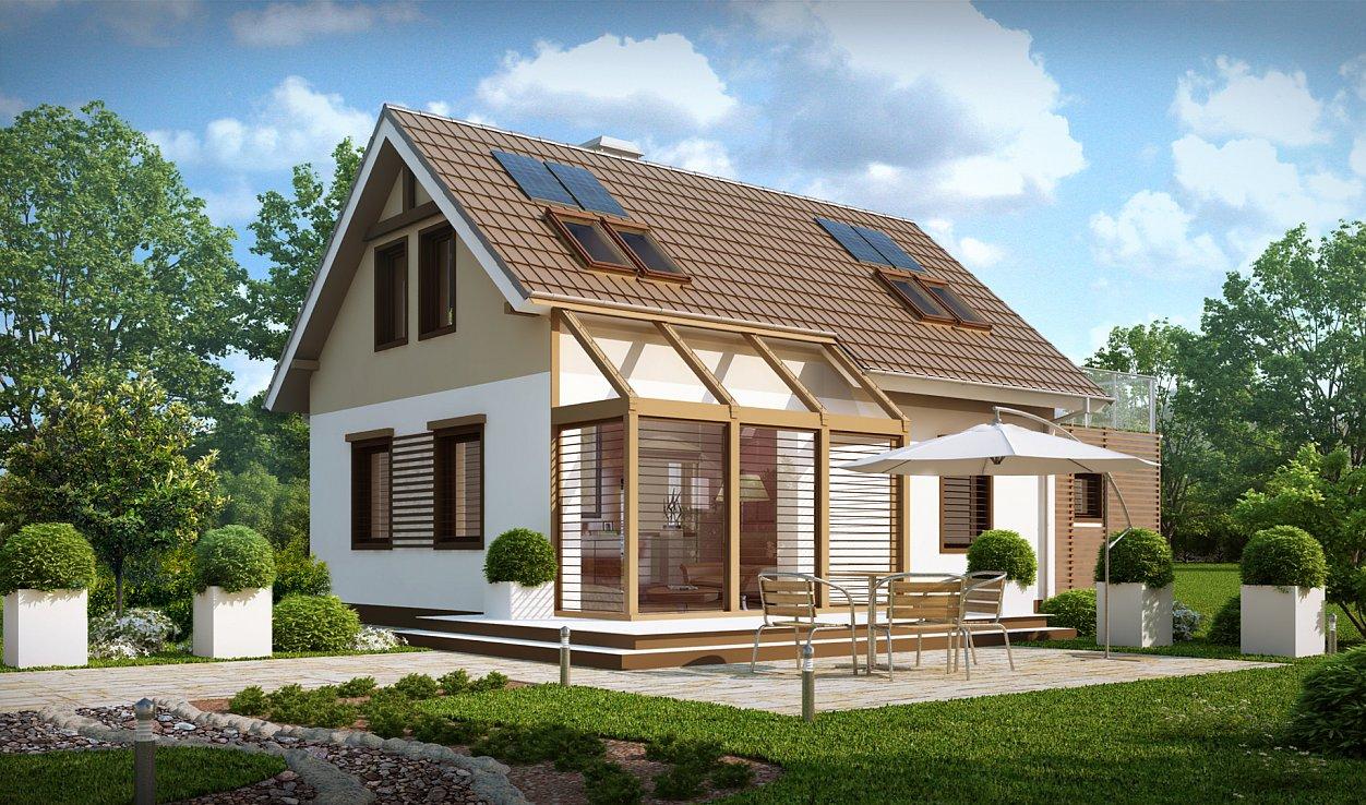 Современный каркасный дом модерн
