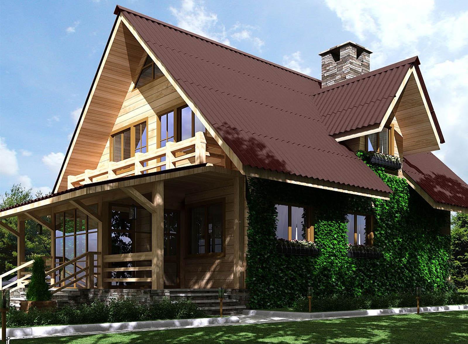 Каркасный дом с мансардой от 6х4 до 9х9. Стоимость