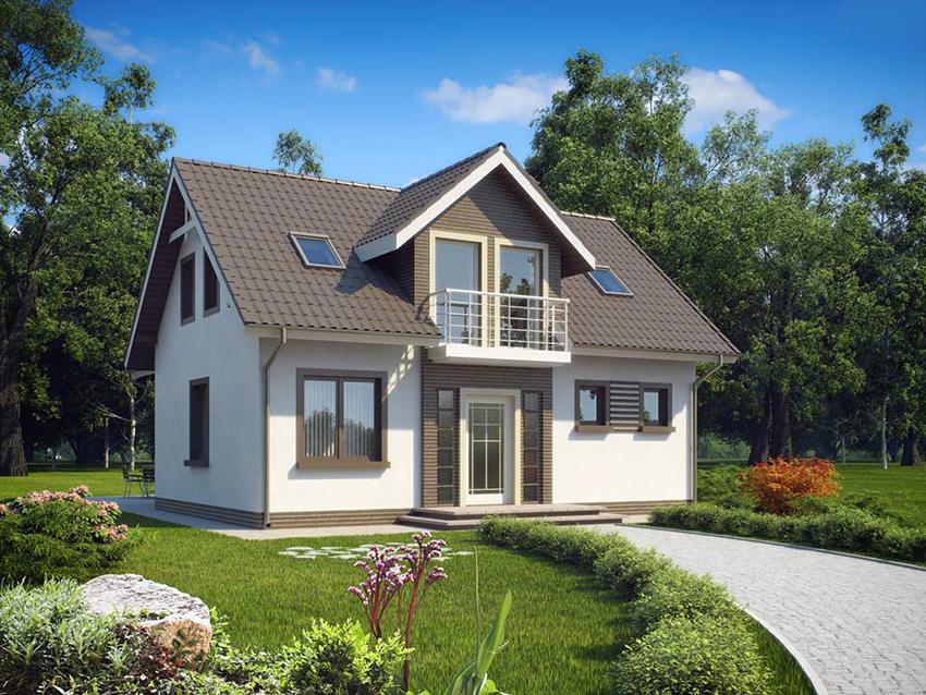Каркасный дом с баней. Планировка и постройка