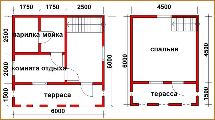 Планировка-двухэтажного-дома-бани