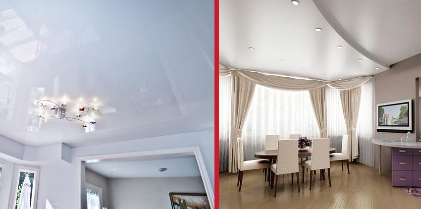 Какие потолки лучше - натяжные или из гипсокартона?