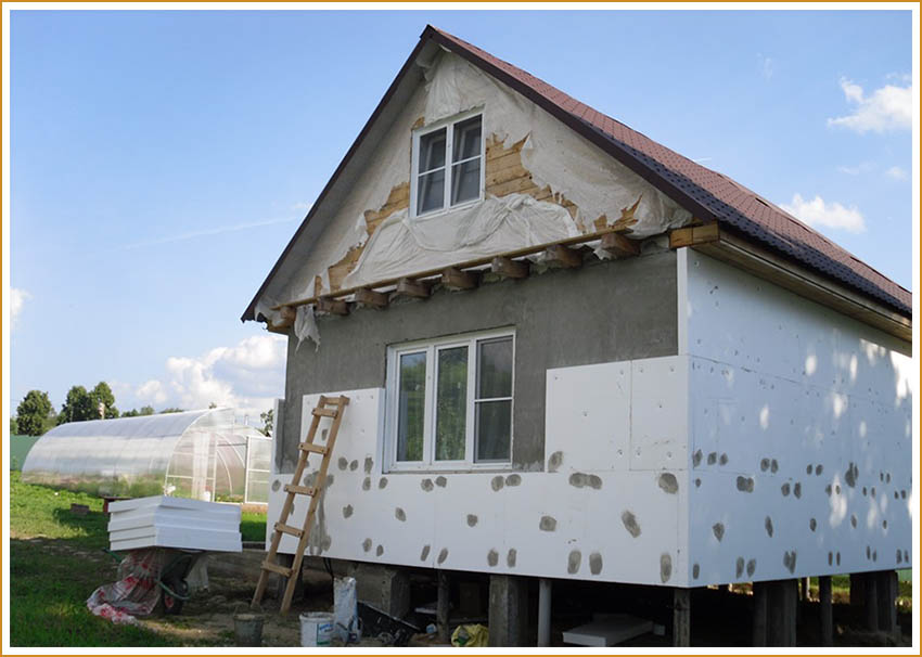 Качественное утепление стен пенопластом снаружи с поэтапной инструкцией