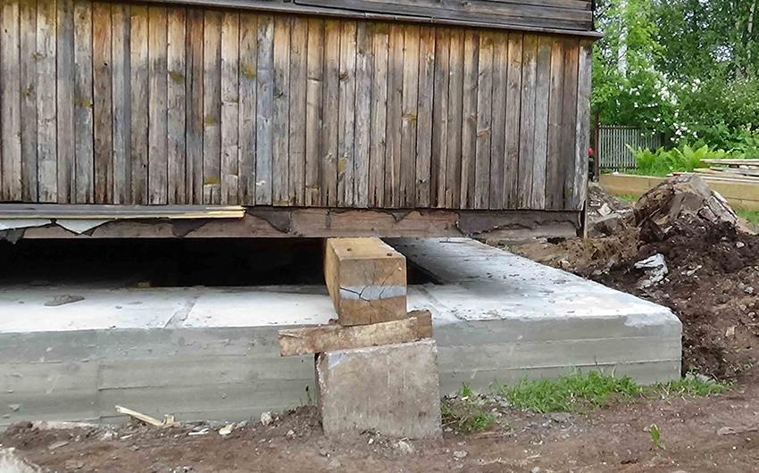 Ремонт фундамента старого деревянного дома своими руками