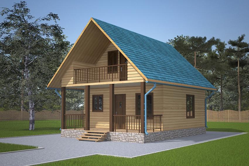 Как недорого построить дом из профилированного бруса 6х8