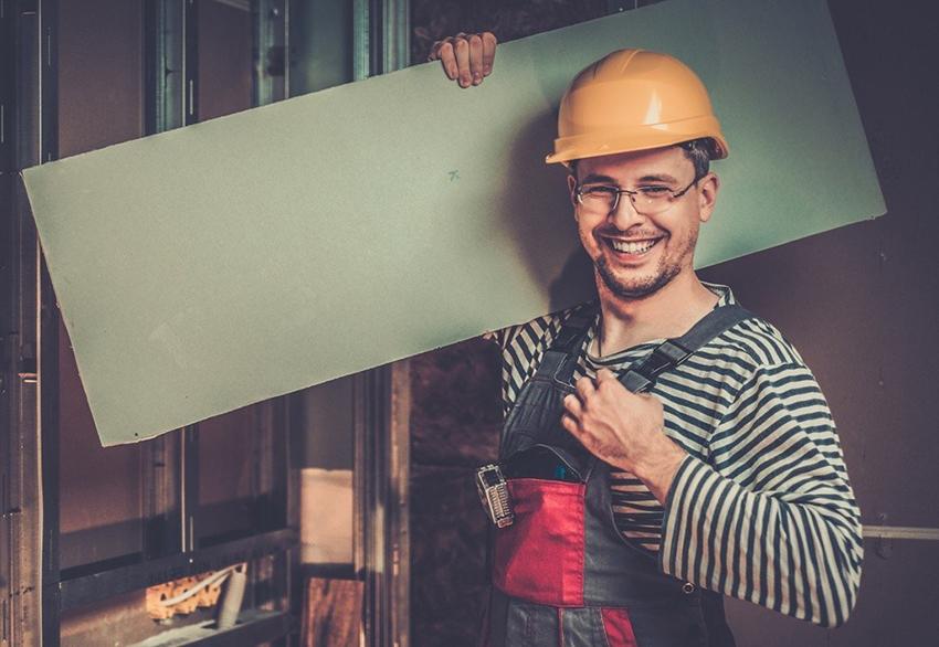 Как крепить гипсокартон к стене без профиля. Секреты бескаркасного метода